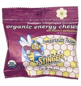 Honey Stinger Honey Stinger, Organic Energy Chews, Bx f 12 x 50g, Pmegranate
