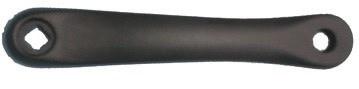 Left Arm, 170mm, bk, alloy, diamond