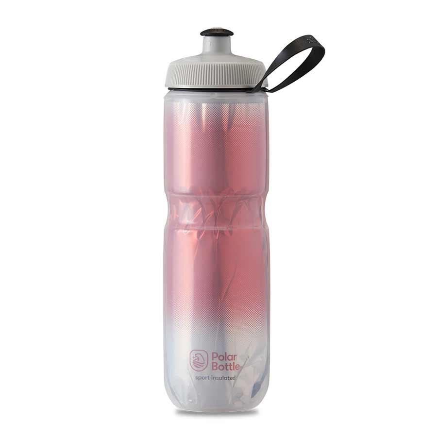 Polar Polar, Sport Insulated 24oz, Water Bottle, 710ml / 24oz, Red/Silver