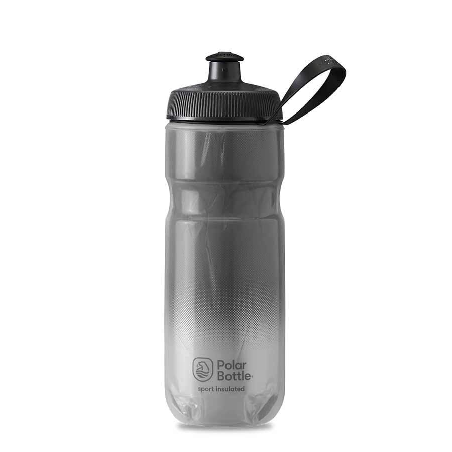 Polar, Sport Insulated 20oz, Water Bottle, 591ml / 20oz, Charcoal/Silver