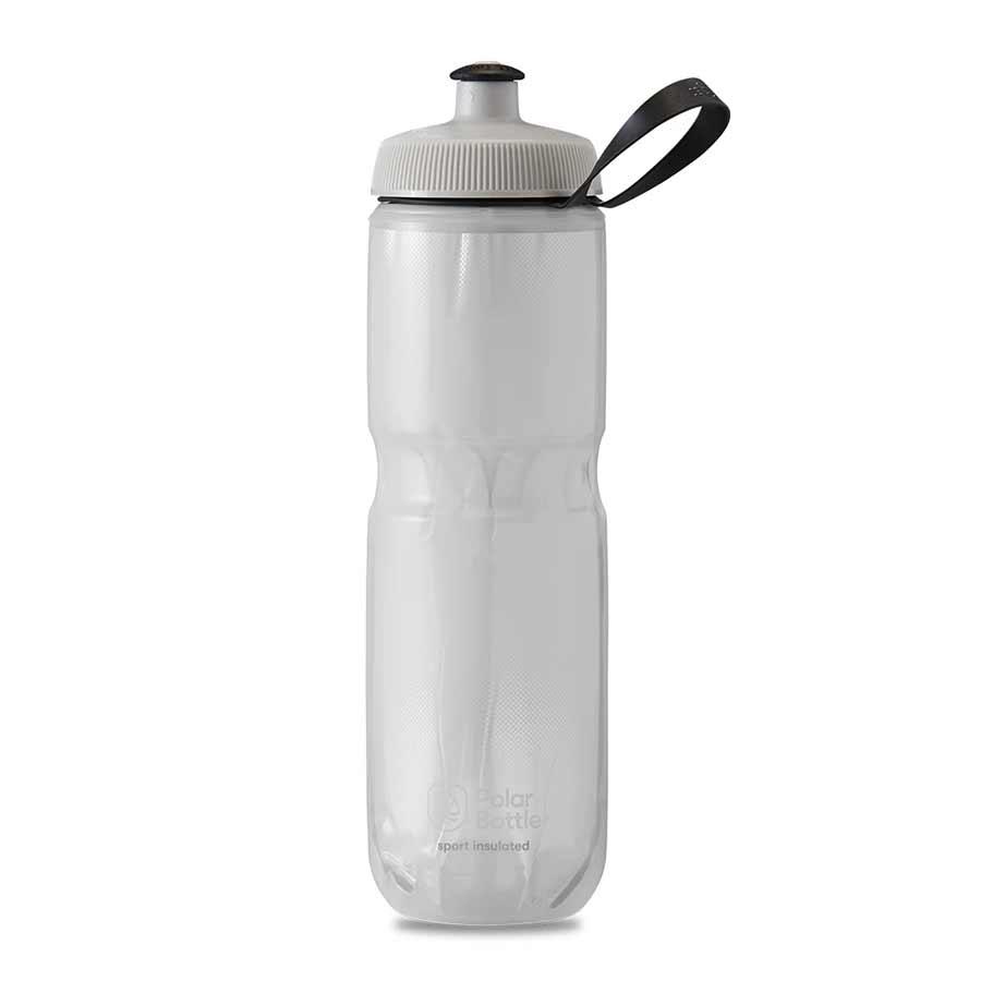 Polar Polar, Sport Insulated 24oz, Water Bottle, 710ml / 24oz, White/Silver