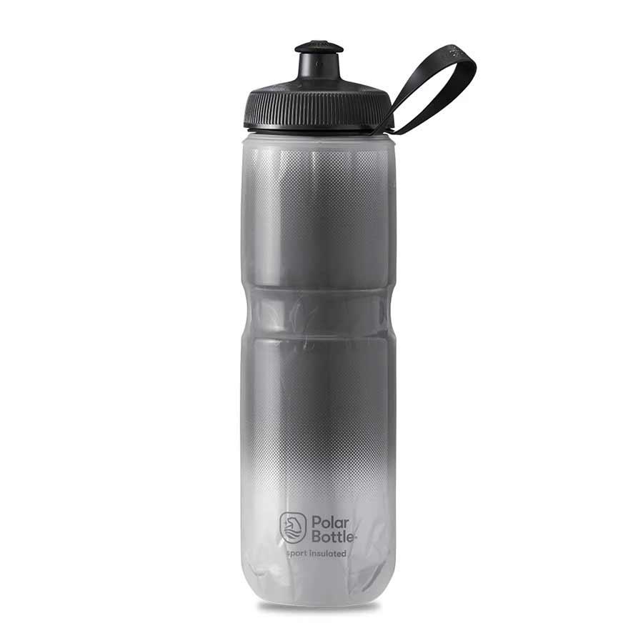 Polar Polar, Sport Insulated 24oz, water Bottle, 710ml/24oz, Charcoal/Silver