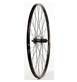 "WHEEL SHOP Wheel Shp, Rear 29"" Wheel, 32H Black Ally Duble Wall Alex SX-44 Disc/ Black Shiman FH-M525 QR 8-10spd 6 Blt Disc Hub, DT Black Stainless Spkes"
