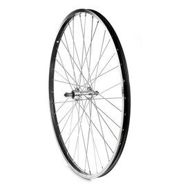 WHEEL SHOP Wheel Shp, Rear 700C Wheel, 36H Black Ally Single Wall Alex 1000/ Silver Frmula FM-31 QR FW Hub, Steel Spkes