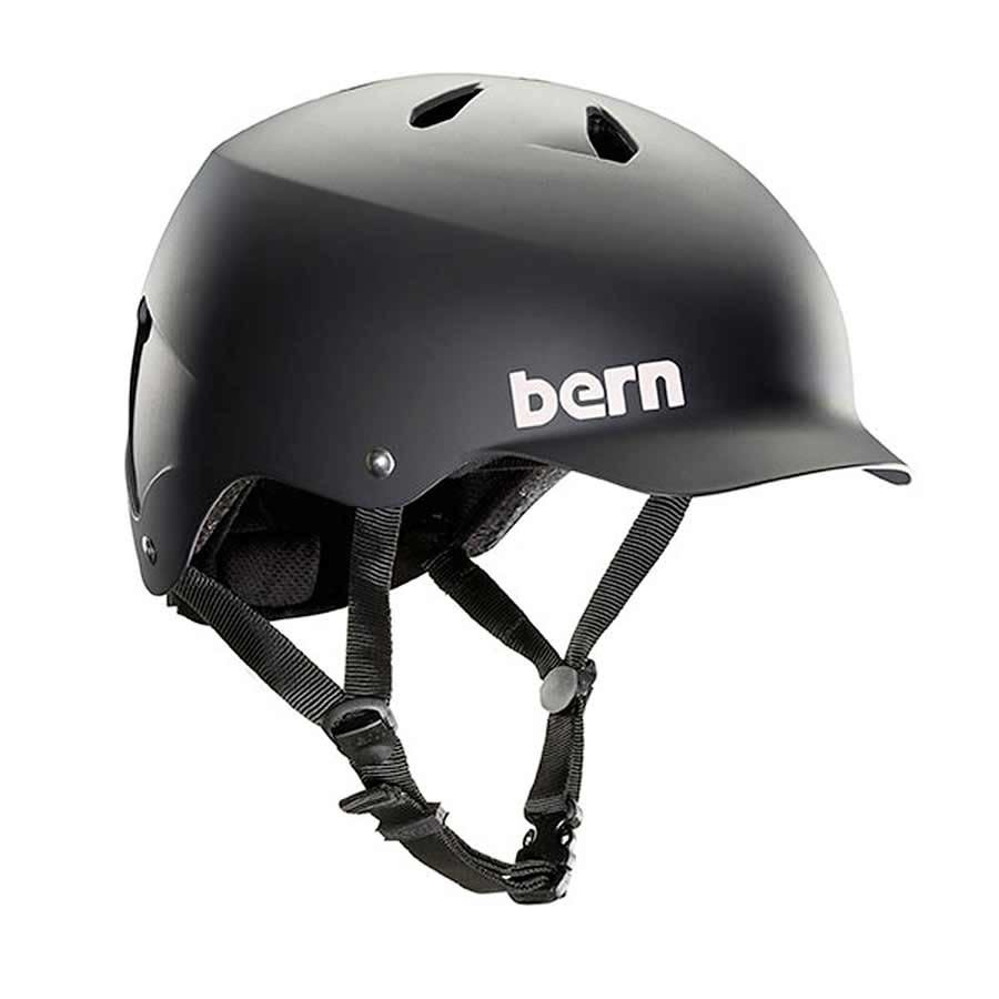 Bern Bern, Watts, Helmet, Matte Black, SM