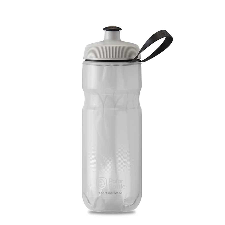 Polar Polar, Sport Insulated 20oz, water Bottle, 591ml/20oz, White/Silver