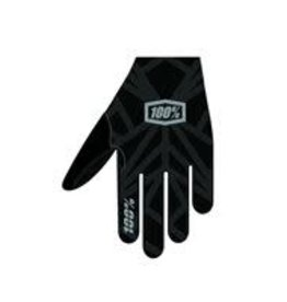 100% 100 % CELIUM Glove Black/Silver LG