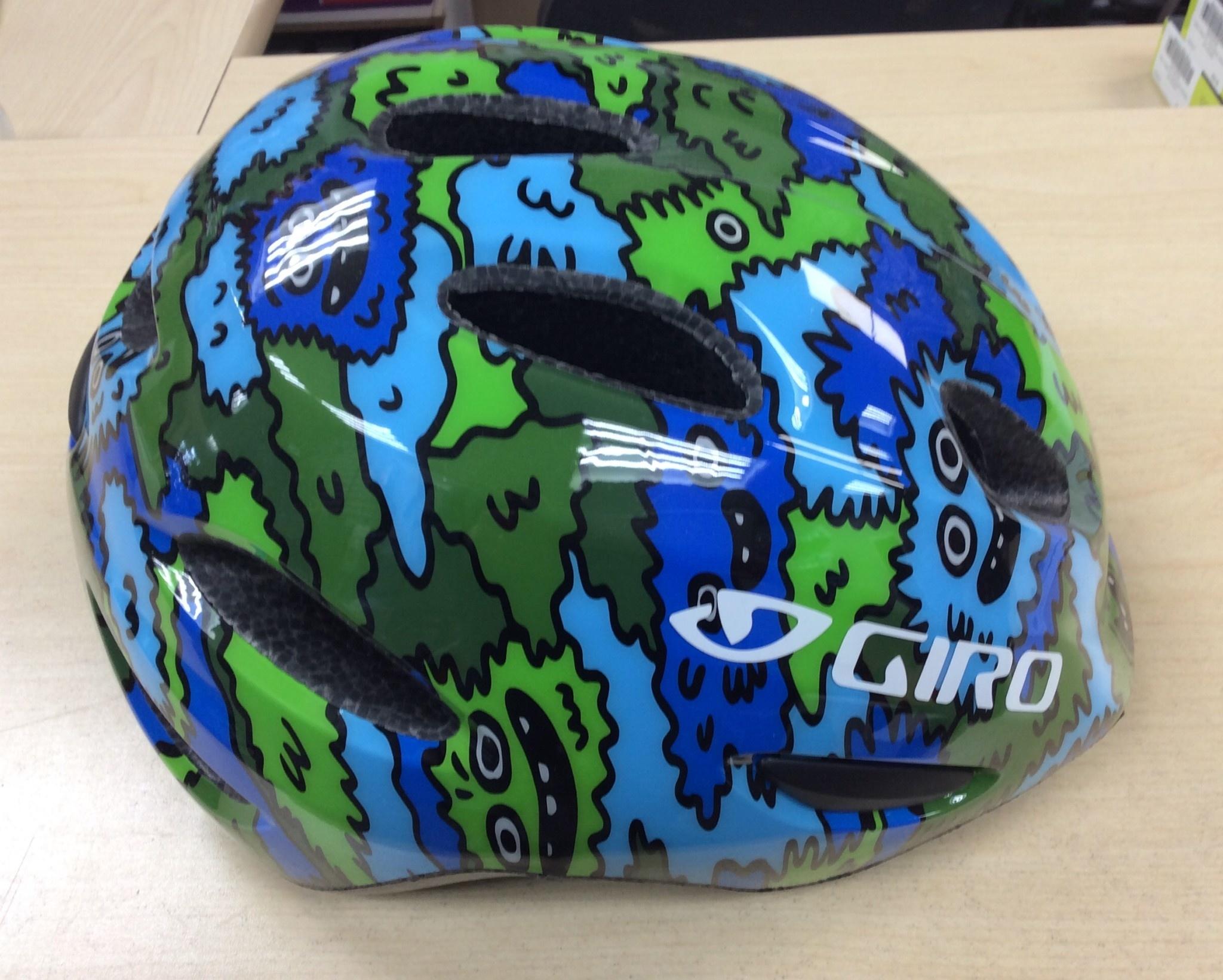 GIRO HELMET SCAMP BLU/GREEN CREATURE S