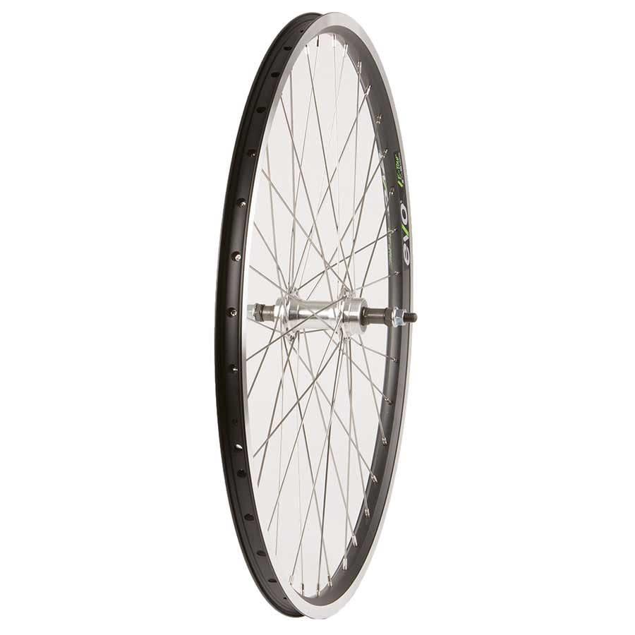 "WHEEL SHOP Wheel Shp, Rear 26"" Wheel, 36H Black Ally Duble Wall Ev E Tur 19/ Silver Frmula FM-31 Nutted Axle FW hub, Stainless Spkes"