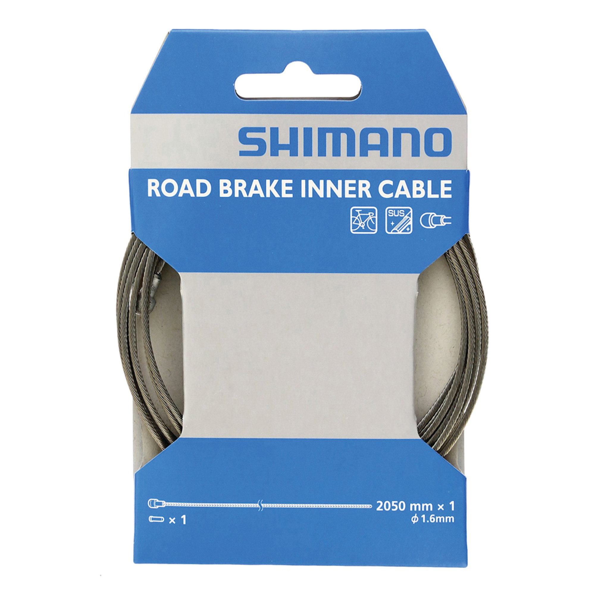 Shimano Shimano, Brake cable, Stainless, MTB, 1.6x3500mm, Unit