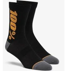 100% SP20 - RYTHYM Merino Wool Performance Socks Black/Bronze - SM/MD