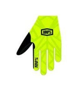 100% 100% CELIUM Glove Fluo Yellow/Black LG