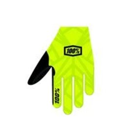100% 100% CELIUM Glove Fluo Yellow/Black LG