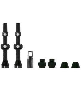 Muc-Off Muc-Off, Tubeless Valve, Presta, 44mm, Black, Pair