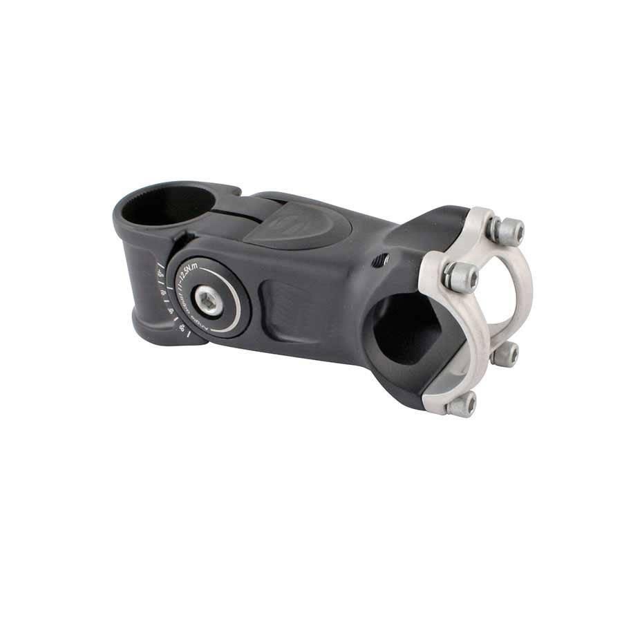 Evo Satori, Compact, Adjustable threadless stem, ST: 28.6mm, -20 to 50, C: 31.8mm, Black, 95mm