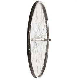 Wheel Shop, Rear 26'' Wheel Alex ACE-17 Black/ FM-31 Silver, 36 Steel Spokes, Bolt-on axle, Freewheel