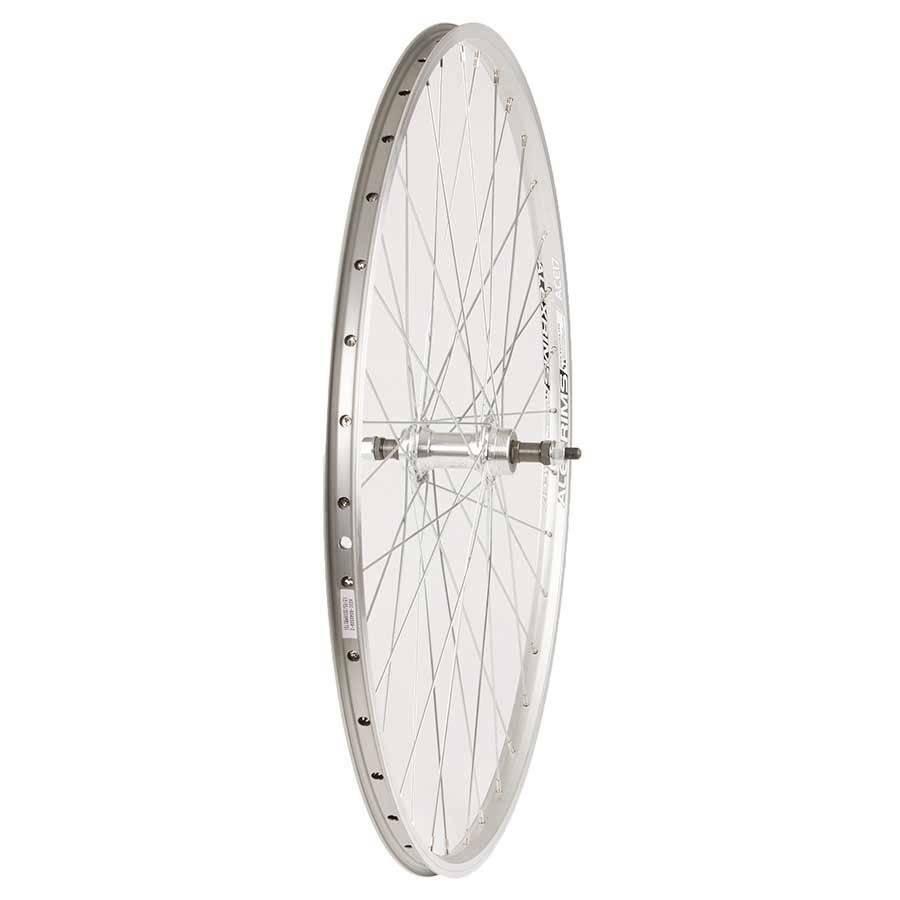 Wheel Shop, Rear 700C Wheel Alex ACE-17 Silver/ FM-31 Silver, 36 Steel Spokes, Bolt-on axle, Freewheel