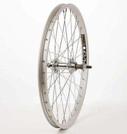 """Wheel Shop,  20"""" EVO E-Tour 20 Silver/ Stainless Wheel, Rear, 20'', 36 spokes, JY-434, Bolt-on, Freewheel"""