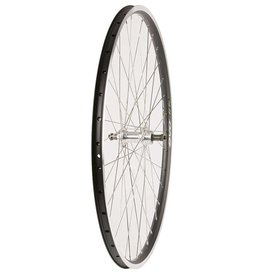 Wheel Shp, Rear 700C Wheel, 36H Black Ally Duble Wall Ev E Tur 19/ Silver Frmula FM-31 QR FW Hub, Stainless Spkes