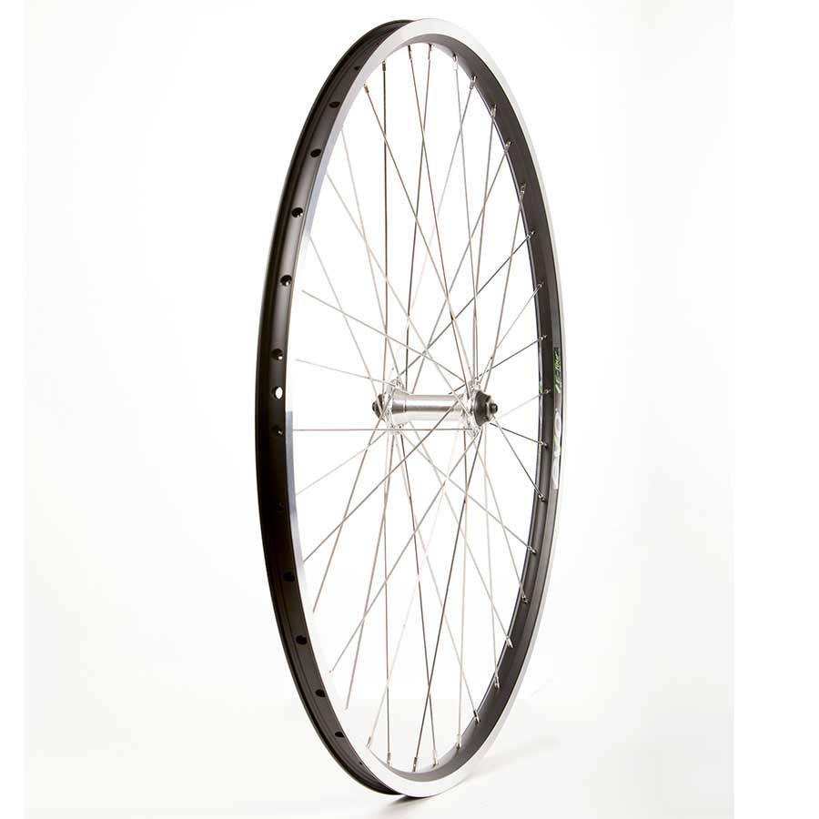 Wheel Shp, Frnt 700C Wheel, 36H Black Ally Duble Wall Ev E Tur 19/ Silver Frmula FM-21 QR Hub, Stainless Spkes