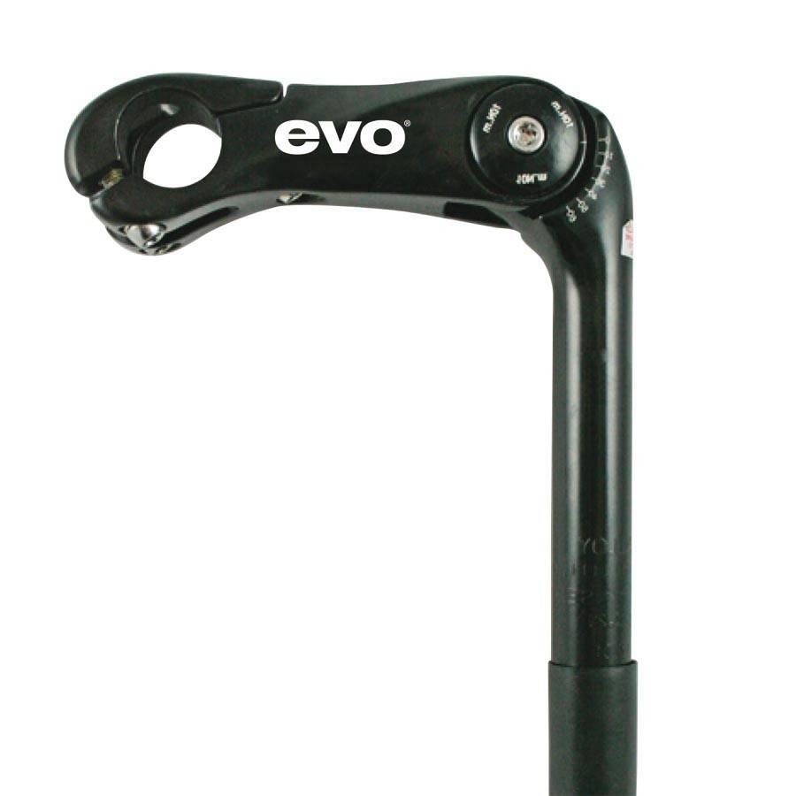 Evo EVO, Adjustable Stem, 25.4mm, For 25.4mm Handlebars, Black, 110mm