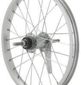 Handbuilt Wheels Wheel Shop, Rear 16'' Wheel Alex C1000 Silver / Coaster Silver, 28 Steel spokes, Nutted axle