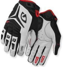 GIRO GLOVES GLOVES, GIRO XEN, LONG FINGER WHITE/BLACK/RED - M