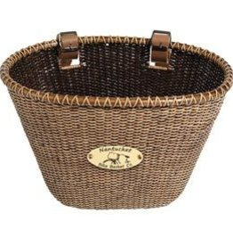 Nantucket Bike Basket Nantucket, Ligthship, oval basket, 14''x10''x8.5'', Stained