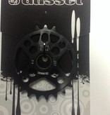 """Gusset Gusset, 4-Cross, 25T Chainring, 25T, 23.8mm/19mm, 1-bolt, 9-speed (5/64""""), 7075 alloy"""
