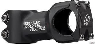 RACE FACE Stem, RACE FACE, EVOLVE, AM - 8 DEG - 31.8MM - 50 MM, BLACK