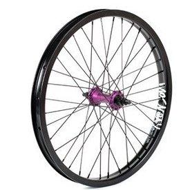 "MacNeil Wheel, Primary, cassette, RR,20"", wheel, RHD 9T 14mm black rim/black spokes/purple hub"