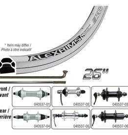 Handbuilt Wheels Wheel Shop, Alex Ace17 Silver/ Formula FM-31, Wheel, Rear, 26'' / 559, Holes: 36, Bolt-on, 135mm, Rim, Freewheel