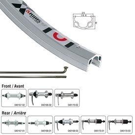 Handbuilt Wheels Front, 700C Wheel, Alex X101, Silver / FM-21 Silver, 36 Steel spokes, QR axle