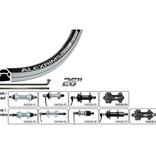 Handbuilt Wheels WHEEL, FRONT 26'', ALEX ACE-17 Black/ DC-20 Black, 36 Steel Spokes, Front, Formula DC-20 Black, QR Axle, ISO 6 Bolts Disc