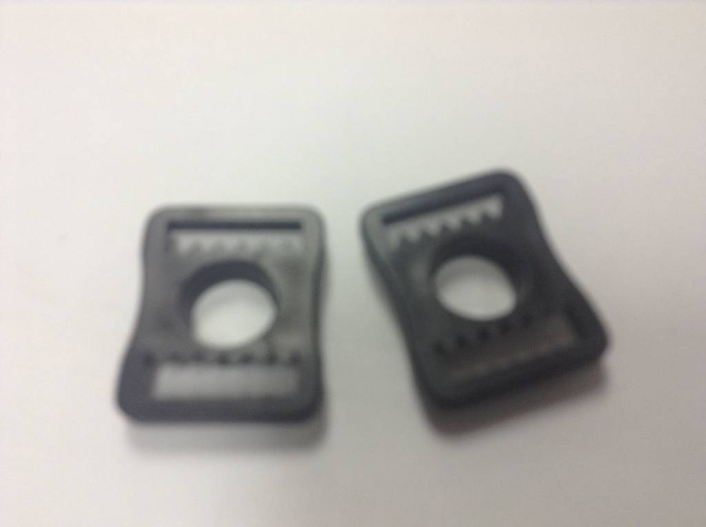 PLASTIC, BUCKLES, FOR HOCKEY HELMETS, Flat,  RP205