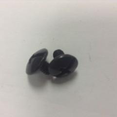 SHORT SCREWS, Black, (6 PACK), RP108, HELMET SCREWS,