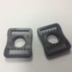 BUCKLES, PLASTIC, Flat, RP205, (PAIR) FOR HOCKEY HELMETS,