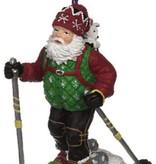 TREE ORNAMENT, Snowshoe Santa