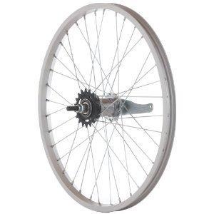 "Handbuilt Wheels Rear 26''x1 3/8"" Wheel Alloy Silver, Nutted axle, Coaster Brake, DW"