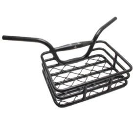 "Evo EVO, Brooklyn, Integrated Basket/Handlebar, Clamp size 31.8mm/upper & 25.4mm/lower, Width: 648mm, 230 X 335m, (9""x13.1"") Black, max weight 10kg/22lbs."