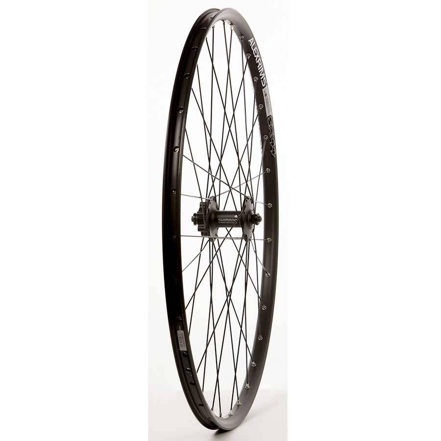 "WHEEL SHOP Wheel Shp, Frnt 29"" Wheel, 32H Black Ally Duble Wall Alex SX-44 Disc/ Black Shiman HB-M525 QR 6 Blt Disc Hub, DT Black Stainless Spkes"
