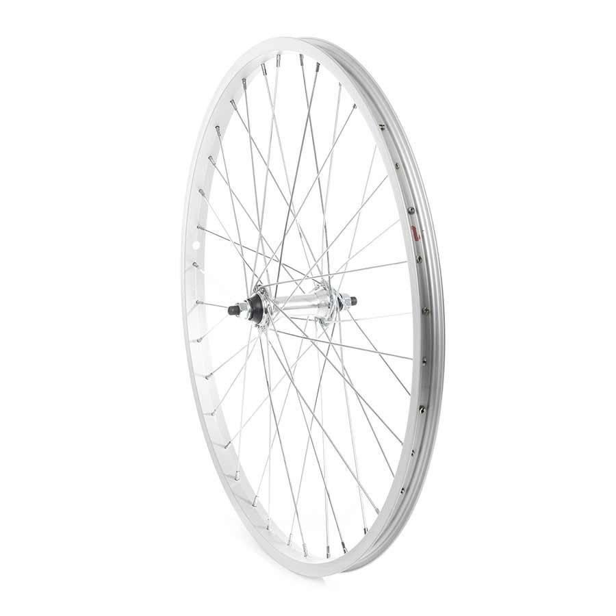 Handbuilt Wheels Front 24'' Wheel Alex C1000 Silver / FM-21 Silver, 36 Steel spokes, Nutted axle