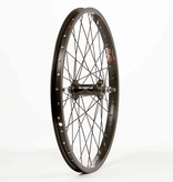 "WHEEL SHOP Wheel Shop, Front 20"" Wheel, 36H Black Alloy Single Wall Alex J-303/ Black Jytech A075 Nutted 3/8 Axle Hub/ Black Stainless Spkes"
