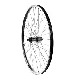 Handbuilt Wheels Rear 26'' Wheel, Alex DM-18 Black / FH-RM70 Black, 36 Stainless Spokes, QR Axle, 8/9 Sp Cassette