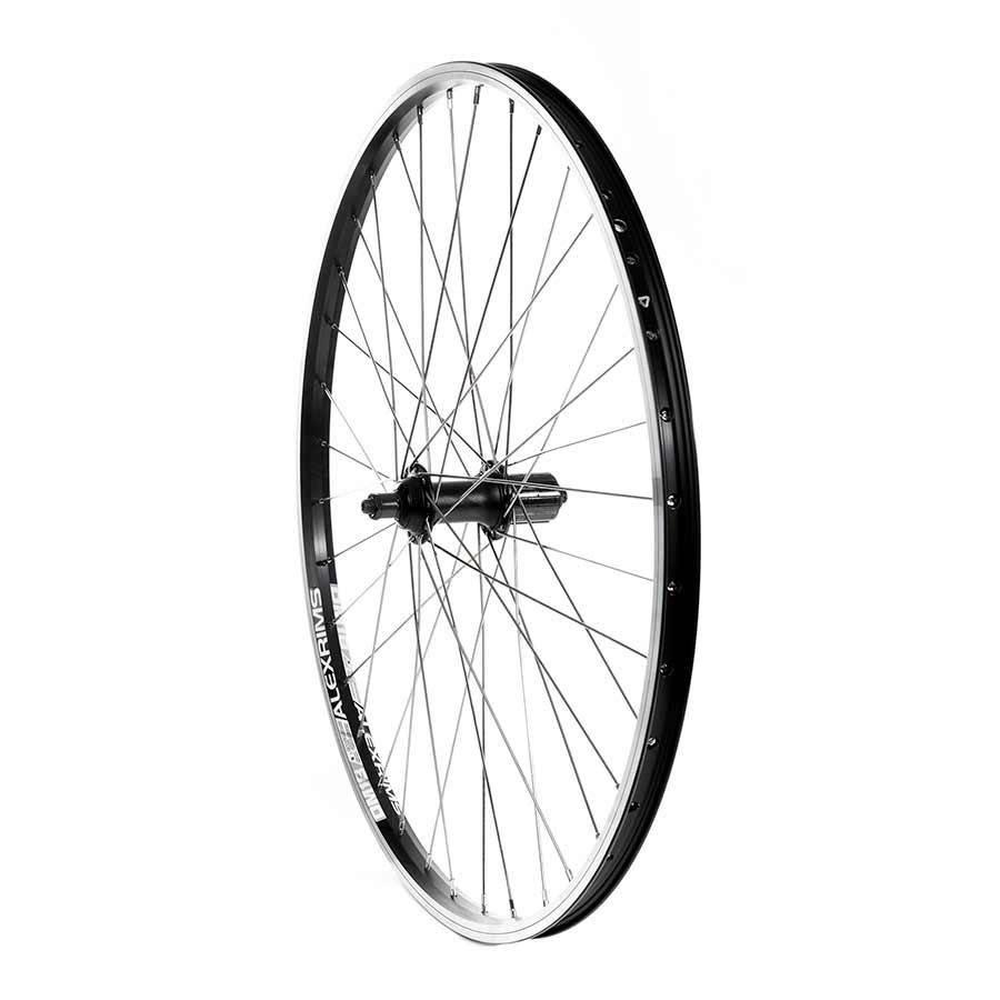 Handbuilt Wheels Rear 26'' Wheel, Alex DM-18 Black / FH-RM70 Black, 36 Stainless Spokes, QR Axle, 8/9 Sp Cassette