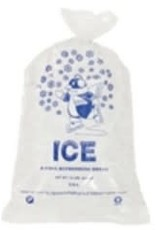 SANECK INTERNATIONAL Bags, 10lb. Printed Ice Bags 2/500ct. Case