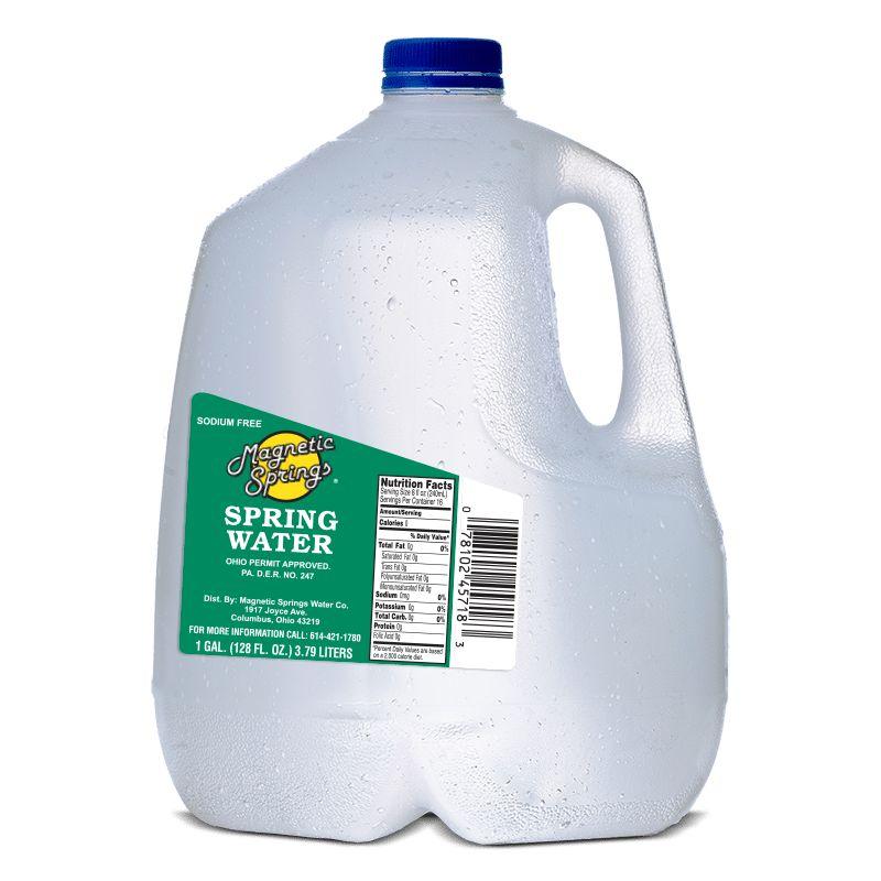 MAGNETIC SPRINGS BOTTLED Distilled Water, 3/1Gal. Case