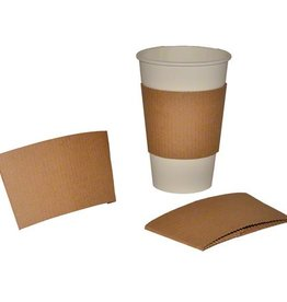SOUTHERN CHAMPION TRAY CO Hot Cup Sleeves, Fits 10-24oz Kraft 250ct. Box