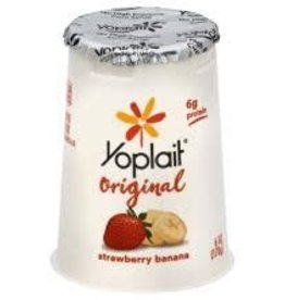 GENERAL MILLS GARDETTO'S Yogurt, Yoplait Strawberry Banana, 12/6oz. Case