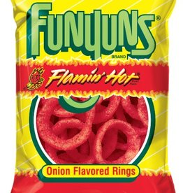FRITO-LAY/LARGE SINGLE SERVE Funyuns, Flamin Hot Onion Flavored, 64ct. Case